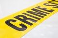 Crime scene tape isolated on white background