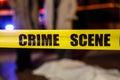 Crime scene tape Royalty Free Stock Photo