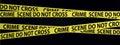 Crime scene tapes