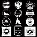 Crimea. retro vintage insignias or logotypes set. design