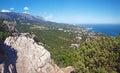 Crimean mountains landscape panorama ukraine Stock Image