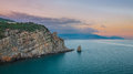 Crimean sanset landscape near Yalta Royalty Free Stock Image