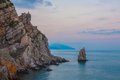 Crimean sanset landscape near Yalta Stock Photo
