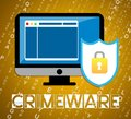 Crimeware Digital Cyber Hack Exploit 2d Illustration Royalty Free Stock Photo