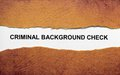 Criminal background check close up of Royalty Free Stock Images