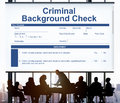 Criminal Background Check Insurance Form Concept Royalty Free Stock Photo