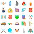 Criminality icons set, cartoon style Royalty Free Stock Photo