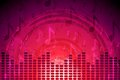 Crimson music flyer abstract background Royalty Free Stock Photo