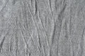 Crinkled gray cloth close up of viscose textile Stock Image