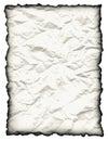 Crinkled, Speckled Paper w/ Burned Edge Stock Photo