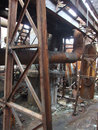 Crisis of coal energy enterprises decline Royalty Free Stock Photo
