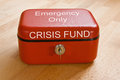 Crisis Fund Royalty Free Stock Photos