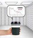 Crisis stock chart Royalty Free Stock Photo
