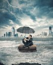 Crisis storm in business concept of Royalty Free Stock Images