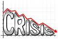 Crisis vector illustration of a falling chart with the writing Stock Photography