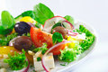 Crisp appetizing Greek salad Royalty Free Stock Photo