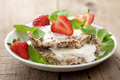 Crisp bread with cottage cheese and berries Royalty Free Stock Photography