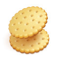 Crisp cookies snacks two on white background eps vector illustration Stock Photo