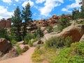 A Crisp Mountain Trail in Vedauwoo, Wyoming Royalty Free Stock Photo