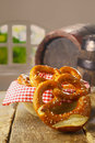 Crisp pretzels served as a snack Stock Photography