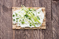 Crispbread with Creme Cheese and Chives Royalty Free Stock Image