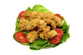 Crispy chicken strips Stock Images