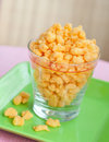 Crispy corn snack Stock Photos