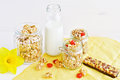 Crispy crunchy with milk Royalty Free Stock Photo