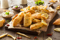 Crispy fish and chips with tartar sauce Royalty Free Stock Image