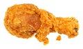 Crispy Fried Chicken Leg Over White Royalty Free Stock Photo