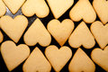Crispy hearts homemade cookies in the shape of heart ready for baking Stock Photography