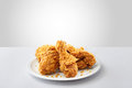Crispy kentucky fried chicken in a white background Royalty Free Stock Photo