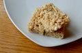 Crispy rice marshmallow treat a sugary snack of a Royalty Free Stock Photos