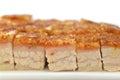 Crispy roasted pork belly Royalty Free Stock Photo