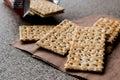 Crispy Rye Bread Crackers low calories Royalty Free Stock Photo