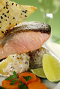 Crispy Skin Salmon Royalty Free Stock Photo