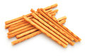 Crispy straws on a white background Royalty Free Stock Photo