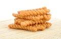 Crispy twist on bamboo mag Royalty Free Stock Photo