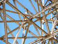 Criss-cross of structural steel framing Royalty Free Stock Photo