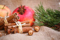 Cristmas background christmas backgroud with anise star Royalty Free Stock Photo