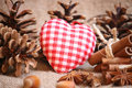 Cristmas background christmas backgroud with anise star an heart Royalty Free Stock Image