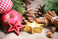 Cristmas background christmas backgroud with red star Royalty Free Stock Photos