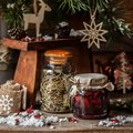 Cristmas Berry Jam with Herb Tea Royalty Free Stock Photo
