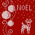 Cristmas card sweater with deer Royalty Free Stock Photo