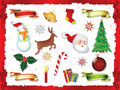 Cristmas elements collection Stock Image