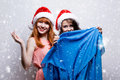 Cristmas girls Royalty Free Stock Image