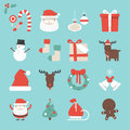 Cristmas icons flat design icon set Stock Photography