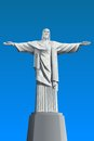 Cristo redentor illustration in triangular pattern style Royalty Free Stock Photography
