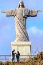 Cristo rei statue in madeira portugal Royalty Free Stock Photo