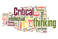 Critical thinking words cloud about Royalty Free Stock Photo